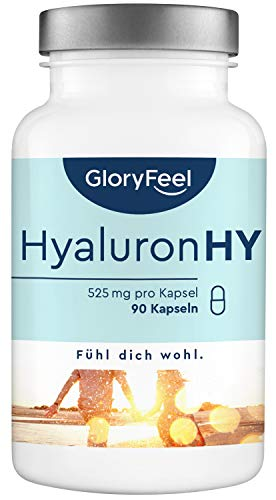 GloryFeel® Hyaluronsäure Kapseln 400mg - Vergleichssieger...